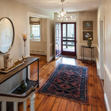 Entry Foyer in 300 Year Old Farmhouse - Danziger Design