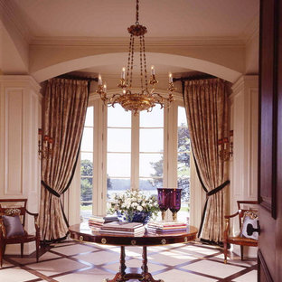 Inspiration for a timeless entry hall remodel in New York