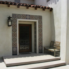 Mediterranean Entry by Devall Designs & Home