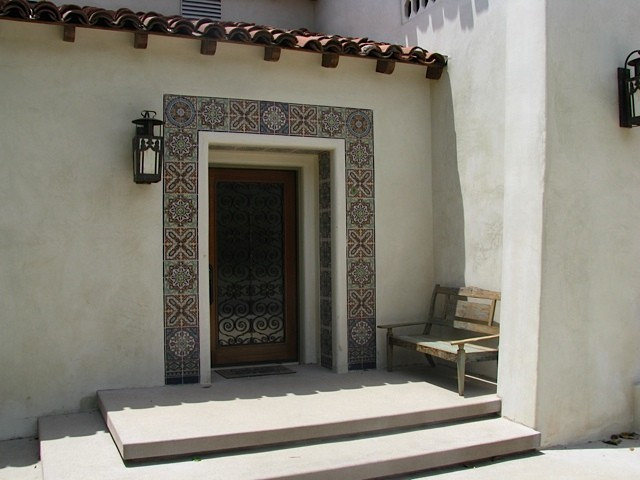 Mediterranean Entry by Devall Designs & Home
