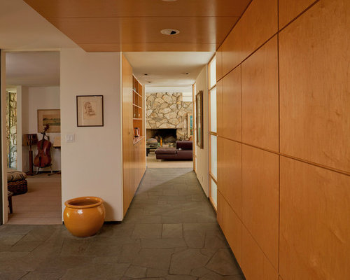 contemporary entry hall idea in los angeles