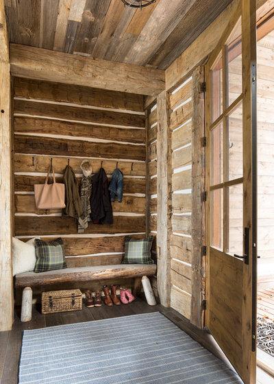 Rustic Entry by Martha O'Hara Interiors