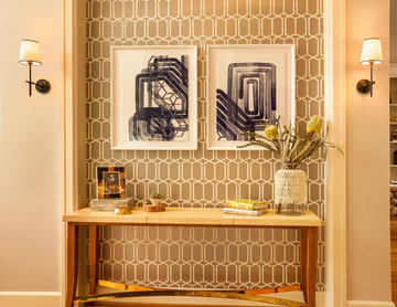 Entry Niche Remodel with Accent Wallpaper