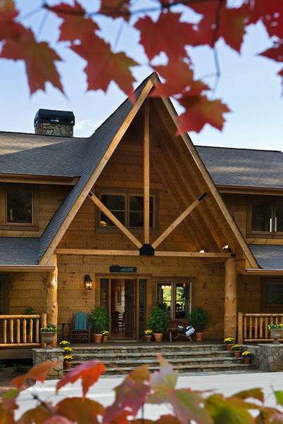 Transitional Entry by Barna Log Homes Of PA