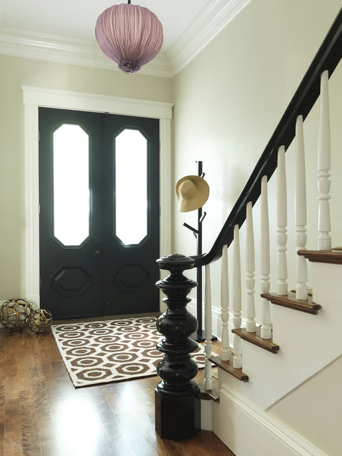 Painted interior doors houzz example of a classic medium tone wood floor double front door design in boston with beige planetlyrics Image collections