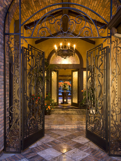 Iron Front Gate Home Design Ideas Pictures Remodel And Decor