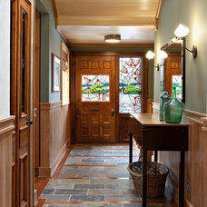 Eclectic Entry by Shelley Kirsch Interior Design and Decoration