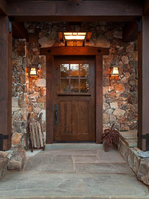 stone around front door