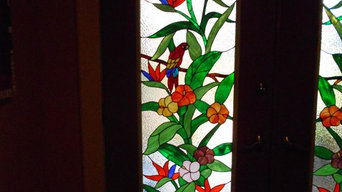entry way two decorative glass for front doors