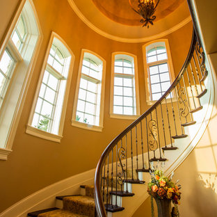 Entry Way With Spiral Staircase of Private Residence in Indian Hill, Ohio