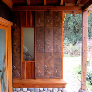 Entry with Art Tile and  matching Art Glass