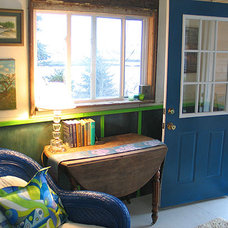 Eclectic Entry entryway - maine cottage - wary meyers decorative arts