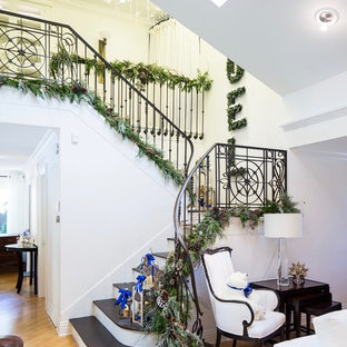 Entryway, White and Blue Christmas