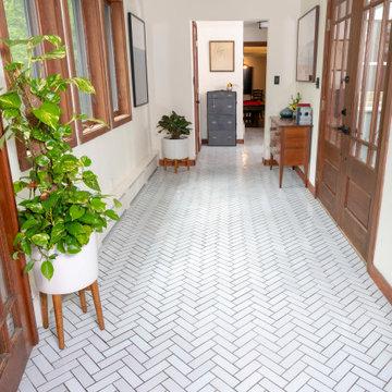 Entryway with Handmade Tile Floor
