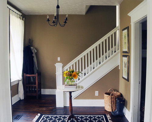 Farmhouse Foyer Games : Craftsman stair railing houzz