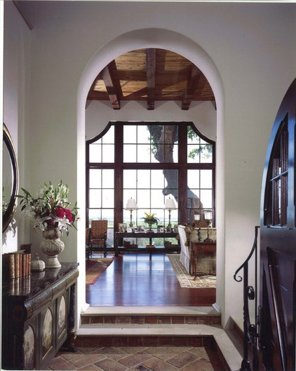 Mediterranean Entry by Summerour Architects