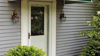 Evergreen Aluminum Door Canopy over entryway