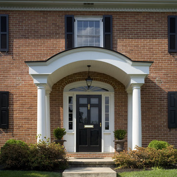 Exterior Arch Portico Front Entry