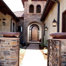 Mediterranean Entry by Aneka Interiors Inc.