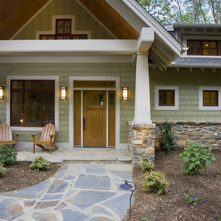 Sherwin Williams Olive Grove Exteriors Clear All Arts And Crafts Entryway Photo In Other
