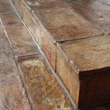 Exterior Steps with reclaimed French Terracotta Parefeuille