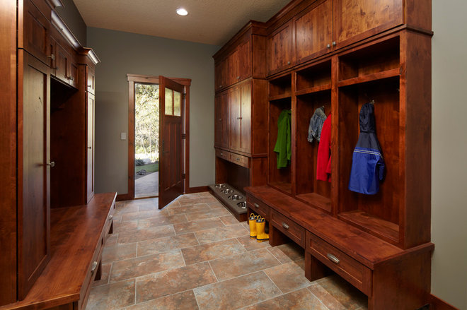 Mudroom with Four Dog Bowls