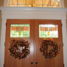 Entry Fall Wreaths on Interior Front Doors
