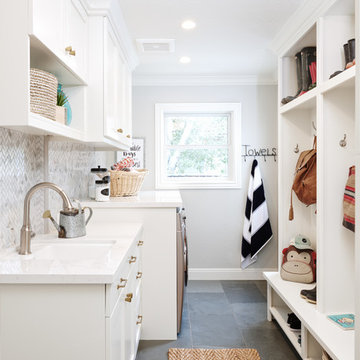Family-Friendly Mudroom, Laundry & Guest Bath