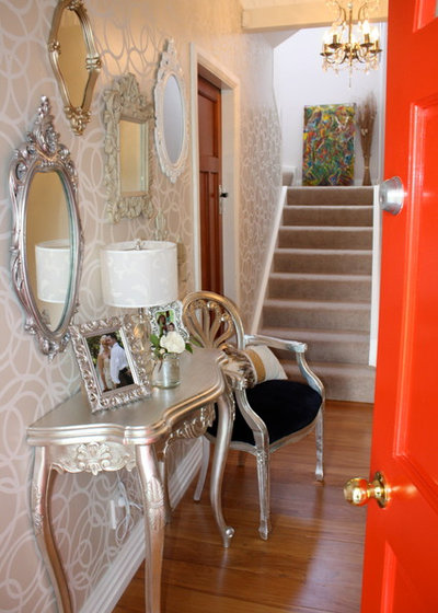 Transitional Entry by Frances Thompson Interior Design