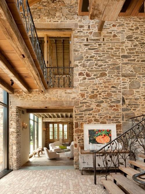 gro er landhausstil eingang hauseingang eingangsbereich gestalten houzz. Black Bedroom Furniture Sets. Home Design Ideas