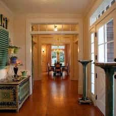 Farmhouse Entry by Alison Kandler Interior Design