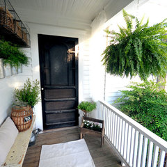 eclectic entry Farmhouse Back Porch and Garden