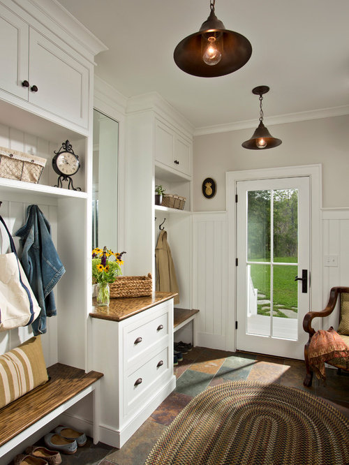 Mudroom lighting houzz for Farmhouse mudroom ideas
