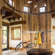 Rustic Entry by Studio 80 Interior Design