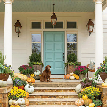Festive Fall Entry with French Quarter Lanterns