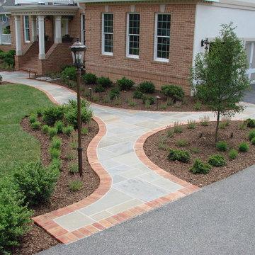 Flagstone & Brick Walkway