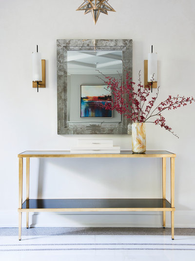 Fusion Entrance by Laura Stein Interiors