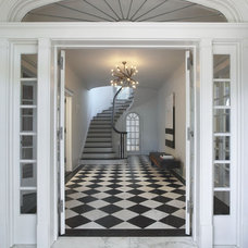 Contemporary Entry by Robert Kaner Interior Design