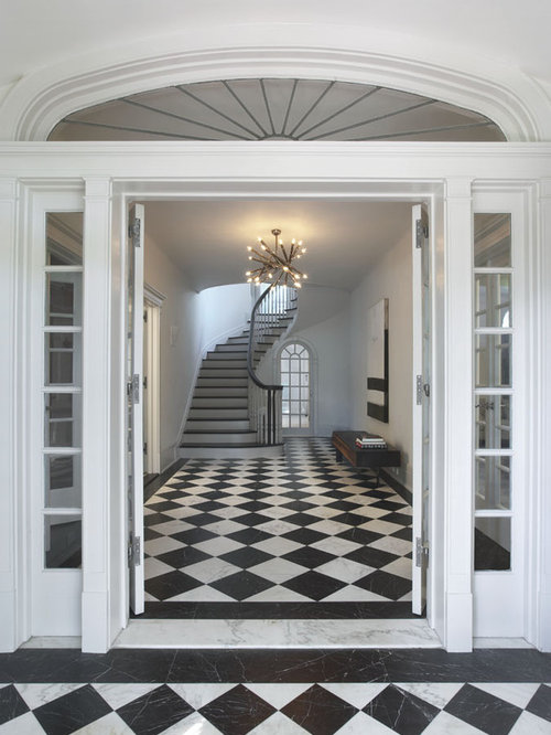 Entryway Marble Floor Medallion Houzz