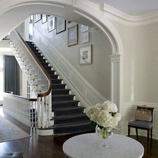 Traditional Staircase by S. B. Long Interiors