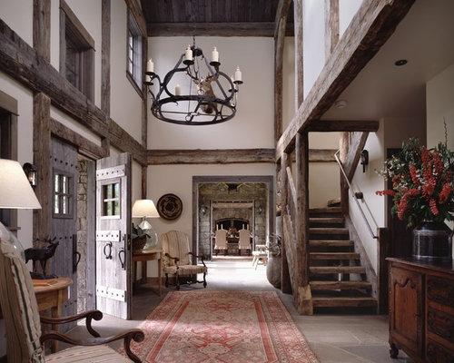 Houzz Rustic Foyer : Rustic interior houzz