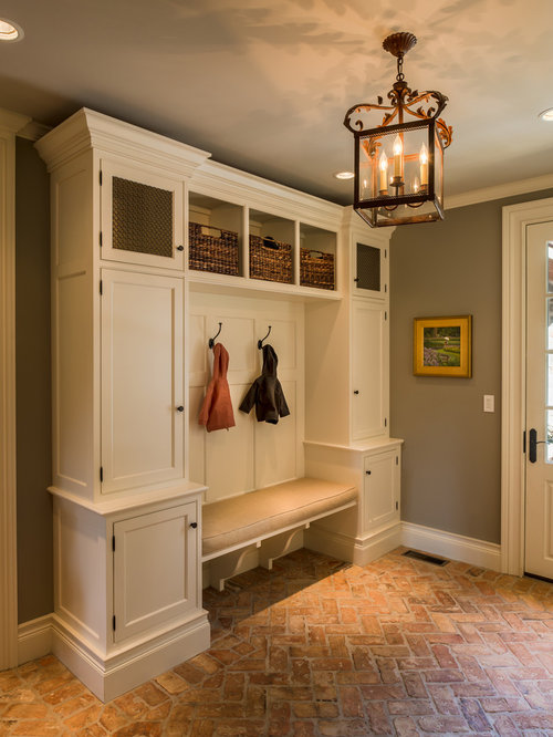 Mudroom design ideas remodels photos for Mudroom floor ideas