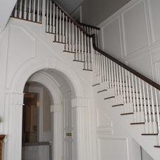 Traditional Staircase by DeMotte Architects