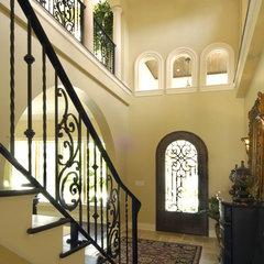 mediterranean entry by Gritton & Associates Architects