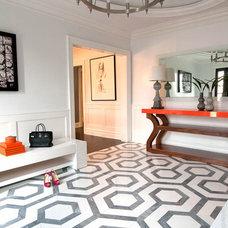 Modern Entry by Jill Podell Interiors