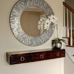 contemporary entry by Rosalinda's Interiors, Inc., Orland Park, IL