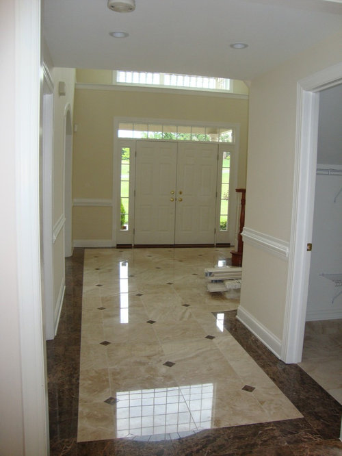 Foyer Entry Questions : Marble foyer houzz