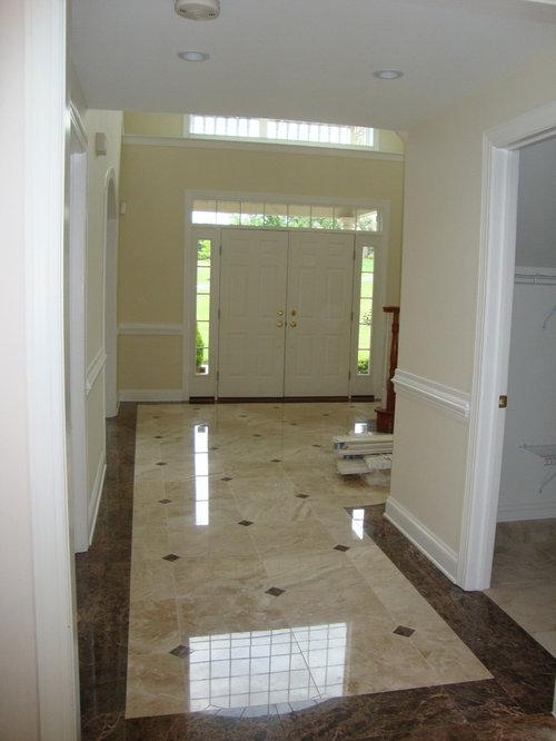 Foyer Flooring Houzz : Marble foyer houzz