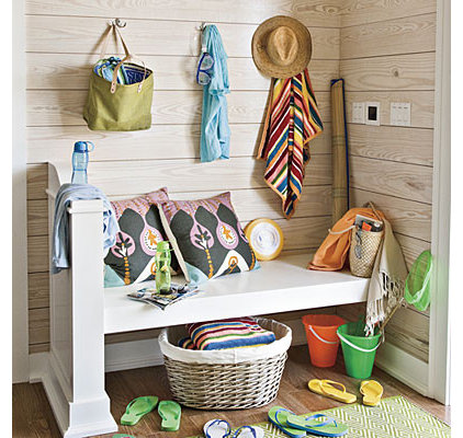 Beach Style Entry by Tracery Interiors