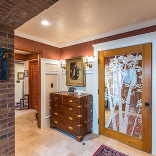 75 Beautiful Vestibule With Red Walls Pictures Ideas September 2020 Houzz